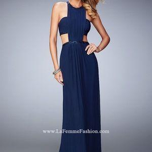 NWT: La Femme Dress w/ Cut Outs